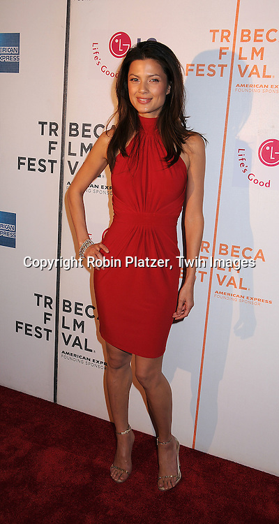 """actress Natassia Scarlet Malthe in Chopard Jewelry..posing for photographers at The 2008 Tribeca Film Festival's screening of """" """"I Am Because We Are"""", which is ..executive produced by Madonna, on April 24, 2008 at BMCC/TPAC. ..Robin Platzer, Twin Images"""