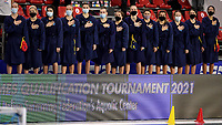 Team Kazakhstan <br /> Greece GRE - Kazakhstan KAZ <br /> Trieste (Italy) 19/01/2021 Bruno Bianchi Aquatic Center <br /> Fina Women's Water Polo Olympic Games Qualification Tournament 2021 <br /> Photo Andrea Staccioli / Deepbluemedia / Insidefoto