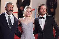 MEL GIBSON, ERIN MORIARTY, DIEGO LUNA - CANNES 2016 - MONTEE DU FILM 'BLOOD FATHER'