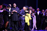 Gladys Knight, Smokey Robinson, Stevie Wonder, Berry Gordy, Diana Ross, Mary Wilson, Valisia LeKae, Charles Randolph-Wright & Company during the Broadway Opening Night Performance Curtain Call for 'Motown The Musical'  at the Lunt Fontanne Theatre in New York City on 4/14/2013..