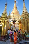 Pouring Water On Buddha, Shwedagon Pagoda