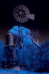 Ghostly Windmill along Dugas Road, Arizona (Infrared) ©2017 James D Peterson.  The ranch where this windmill was captured doesn't appear to be totally abandoned, but it still has the slightly spooky feel of a ghost town.