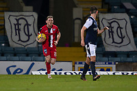 19th December 2020; Dens Park, Dundee, Scotland; Scottish Championship Football, Dundee FC versus Dunfermline; Declan McManus of Dunfermline Athletic races back with the ball after scoring for 3-2 in the 82nd minute
