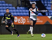 Bolton Wanderers' Reiss Greenidge breaks<br /> <br /> Photographer Andrew Kearns/CameraSport<br /> <br /> EFL Papa John's Trophy - Northern Section - Group C - Bolton Wanderers v Newcastle United U21 - Tuesday 17th November 2020 - University of Bolton Stadium - Bolton<br />  <br /> World Copyright © 2020 CameraSport. All rights reserved. 43 Linden Ave. Countesthorpe. Leicester. England. LE8 5PG - Tel: +44 (0) 116 277 4147 - admin@camerasport.com - www.camerasport.com