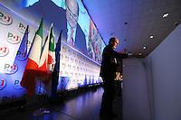 Pier Luigi Bersani Segretario PD.Roma 20/1/2012 Nuova Fiera Di Roma.Assemblea Nazionale PD Partito Democratico.Foto Insidefoto Andrea Staccioli