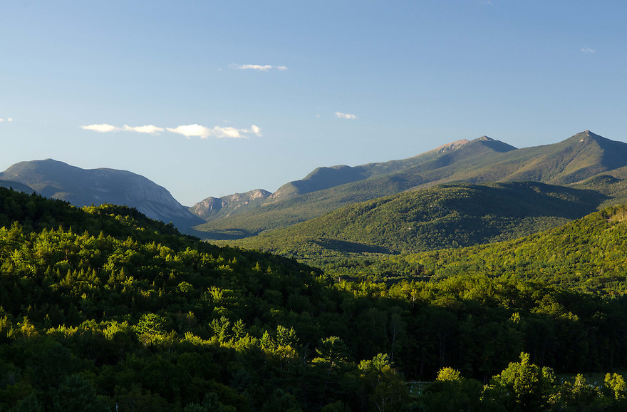 An incredible view of Franconia Notch from a nearby outlook ledge.