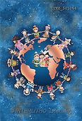Isabella, CHRISTMAS CHILDREN, naive, paintings, globe, children(ITKE501064,#XK#) Weihnachten, Navidad, illustrations, pinturas