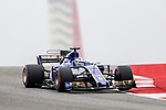 Sauber driver Marcus Ericsson (9) of Sweden in action before the Formula 1 United States Grand Prix race at the Circuit of the Americas race track in Austin,Texas.