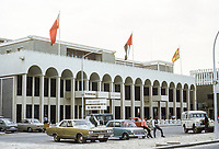 Abu Dhabi, UAE. The Chartered Bank. Photographed March 1972.
