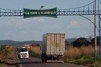 BR 010 entrada de Ulionópolis, Pará, Brasil.<br /> Foto Paulo Santos<br /> 07/07/2012