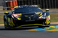 #60 Iron Lynx Ferrari 488 GTE EVO LMGTE Am, Claudio Schiavoni, Paolo Ruberti, Raffaele Giammaria, 24 Hours of Le Mans , Test Day, Circuit des 24 Heures, Le Mans, Pays da Loire, France