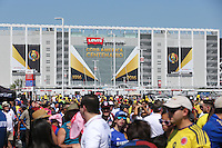 Santa Clara, CA - Friday June 03, 2016: Fans outside of Levi's Stadium prior a Copa America Centenario Group A match between United States (USA) and Colombia (COL) at Levi's Stadium.