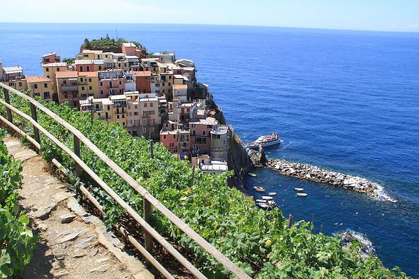 Cinque Terre, Mediterranean Coast, Italy.