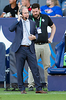 CARSON, CA - JUNE 19: Seattle Sounders FC manager Brian Schmetzer during a game between Seattle Sounders FC and Los Angeles Galaxy at Dignity Health Sports Park on June 19, 2021 in Carson, California.