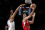 United States´s Davis (L) and Serbia´s Teodosic during FIBA Basketball World Cup Spain 2014 final match between United States and Serbia at `Palacio de los deportes´ stadium in Madrid, Spain. September 14, 2014. (ALTERPHOTOSVictor Blanco)