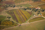 Cooper Vineyards, California's Shenandoah Valley during autumn from the air.