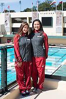 STANFORD, CA - Freshmen of the Stanford University Women's Synchronized Swimming Team