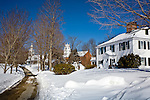 Jaffrey Center with snow, Jaffrey, NH, USA