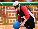 Amy Burk, Rio 2016 - Goalball. <br /> Team Canada competes in Women's Goalball preliminary against China // Équipe Canada participe aux préliminaires du goalball féminin contre la Chine. 12/09/2016.