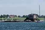 House on a Rock, lower Narragansett Bay, Rhode Island.