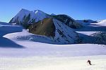 Simon Destombes skiing down the Damodar Glacier, facing Khumjung peak, Damodar Himal, Nepal, 2008
