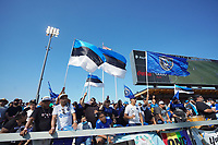 SAN JOSE, CA - AUGUST 8: San Jose Earthquakes fans during a game between Los Angeles FC and San Jose Earthquakes at PayPal Park on August 8, 2021 in San Jose, California.