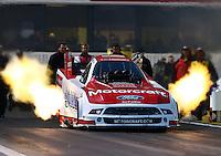 Feb 7, 2014; Pomona, CA, USA; NHRA funny car driver Bob Tasca III during qualifying for the Winternationals at Auto Club Raceway at Pomona. Mandatory Credit: Mark J. Rebilas-
