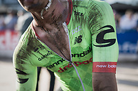 A dust-mudded Dylan van Baarle (NED/Cannondale-Drapac) post-race<br /> <br /> 115th Paris-Roubaix 2017 (1.UWT)<br /> One Day Race: Compiègne › Roubaix (257km)