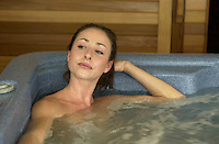 2003 File Photo - Model Released<br /> young woman in a spa<br /> Photo by Pierre Roussel
