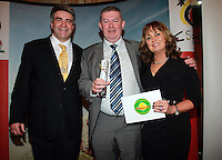 Repro Free from left to right: Eoghan Corry from Travel Extra, Winner of the Long hall Destination, Journalist of the Year Sponsored by Sunway Philip Nolan from The Mail on Sunday and Cathy Cashe from Sunway. Travel Extra,Travel Journalist of the Year Awards at the Thomas Prior House Ballsbridge. The event which was sponsored by The Spanish Tourist board gave out 12 awards for different catagories. This year saw a huge increase in the number of submissions from previous years, displaying the creativity and continuning innovation of travel and tourism journalism in Ireland. Collins Photos 25/1/13