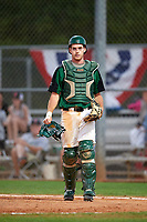 Dartmouth Big Green catcher Bennett McCaskill (18) during a game against the Northeastern Huskies on March 3, 2018 at North Charlotte Regional Park in Port Charlotte, Florida.  Northeastern defeated Dartmouth 10-8.  (Mike Janes/Four Seam Images)