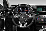 Car pictures of steering wheel view of a 2020 KIA XCeed Sense 5 Door SUV Steering Wheel