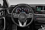 Car pictures of steering wheel view of a 2020 KIA XCeed Sense 5 Door SUV Steering Wheel