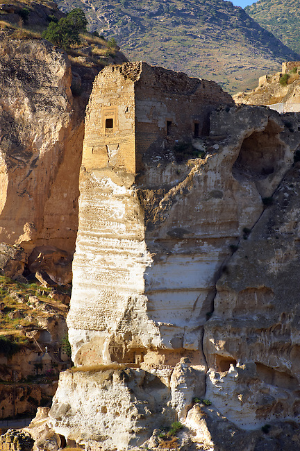 Ruins of the Ayyubids Small Palace in the citadel of ancient Hasankeyf overlooking the Tigris River. Turkey 4