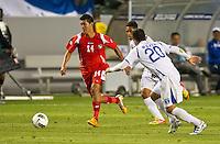 CARSON, CA - March 23, 2012: Edward Benitez (14) of Panama during the Honduras vs Panama match at the Home Depot Center in Carson, California. Final score Honduras 3, Panama 1.