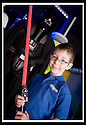 03/05/2009  Copyright  Pic : James Stewart.35_the_buzz.**** FREE FIRST USE WHEN USED IN RELATION TO  OPENING OF THE BUZZ ****.THE UK'S LARGEST SOFT PLAY AND LASER QUEST ARENA OPENS IN FALKIRK...... .GRANT MCLAUGHLAN (6) KEEPS DARTH VADER AT BAY.....For more information contact Jonathan Kennedy or Alison Jack at Wave PR on 0141 303 8390 / 07803 137262..James Stewart Photography 19 Carronlea Drive, Falkirk. FK2 8DN      Vat Reg No. 607 6932 25.Telephone      : +44 (0)1324 570291 .Mobile              : +44 (0)7721 416997.E-mail  :  jim@jspa.co.uk.If you require further information then contact Jim Stewart on any of the numbers above.........