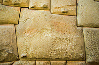 12-Angled Stone was laid without mortar by Inca stone masons over 700 years ago, Cusco, Peru