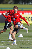 Pictured: Ben Davies in action. Monday 31 August 2020<br /> Re: Wales football training ahead of their game against Finland, at the Vale Resort in Hensol, Wales, UK.