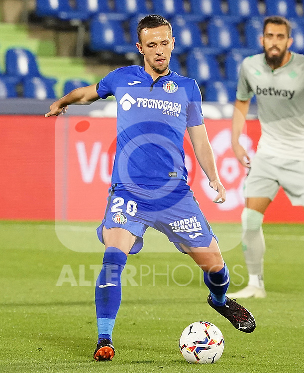 Getafe CF's Nemanja Maksimovic during La Liga match. September 29,2020. (ALTERPHOTOS/Acero)