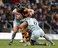Photo: Richard Lane/Richard Lane Photography. London Wasps v Leicester Tigers. Aviva Premiership. 25/11/2012. Wasps' Chris Bell attacks.