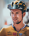 Primoz Roglic (SLO) Jumbo-Visma at sign on before Stage 5 of La Vuelta d'Espana 2021, running 184.4km from Tarancón to Albacete, Spain. 18th August 2021.    <br /> Picture: Cxcling   Cyclefile<br /> <br /> All photos usage must carry mandatory copyright credit (© Cyclefile   Cxcling)