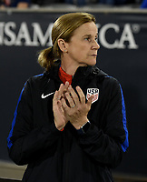Commerce City, CO - Friday September 15, 2017: Jill Ellis during an International friendly match between the women's National teams of the United States (USA) and New Zealand (NZL) at Dick's Sporting Goods Park.