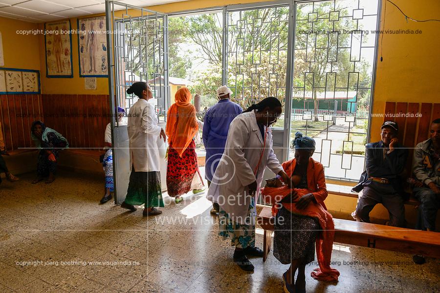 ETHIOPIA Taza Catholic Health Center / AETHIOPIEN Taza Catholic Health Center, Sr. Meskel Kelta, Reception