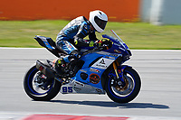 30th March 2021; Barcelona, Spain; Superbikes, WorldSSP600 , day 2 testing at Circuit Barcelona-Catalunya;   V. Takala (FIN) riding Yamaha YZF R6 from Kallio Racing