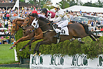 2 May 2009: Better Be Ready, ridden by Jody Petty, on his way to winning the Subaru Sport of Kings maiden hurdle at the Virginia Gold Cup.