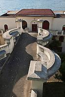 Europe/France/Aquitaine/64/Pyrénées-Atlantiques/Pays-Basque/Guéthary: Passerelle: Itsasoan  de l'architecte Godbarge, de l'ancien Hôtel-Casino Itsasoan