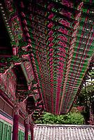 So. Korea: Kyong-Ju--Eaves, brackets at Bulgug-sa Temple. Photo '81.