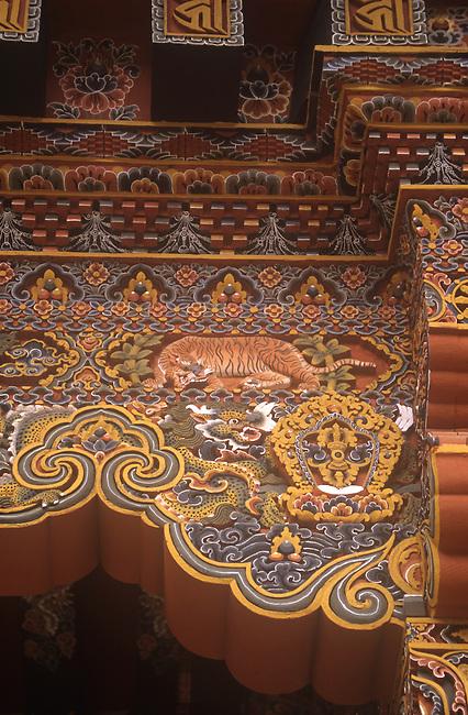 Detail, Dzong, Punakha, Bhutan