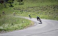 Michal Kwiatkowski (POL/SKY) descending the Col de la Colombière<br /> <br /> 69th Critérium du Dauphiné 2017<br /> Stage 8: Albertville > Plateau de Solaison (115km)