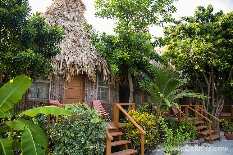 A guestroom at Ramon's Village Resort in San Pedro, Ambergris Caye, Belize